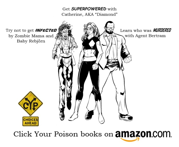 New art celebrating Click Your Poison by DC Comics artist and co-creator of Malice and Mistletoe, Jack Purcell!