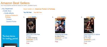 Topping the combined SciFi & Fantasy chart as of 1800.