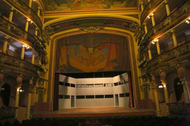 The opera stage (photo by Jerry Peek).