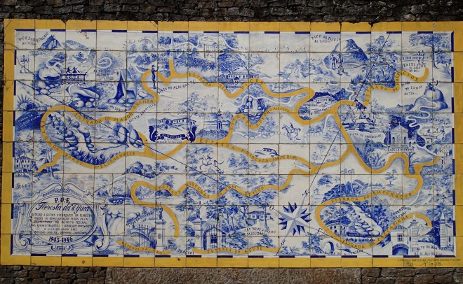 You know, there just aren't enough hiking maps made into tile mosaics these days.