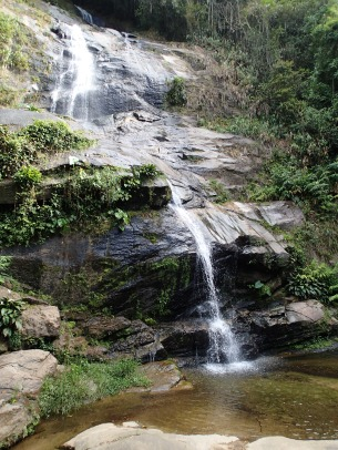 The aptly-named Tijuca Falls.