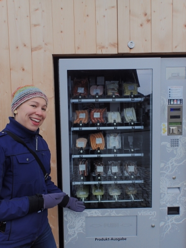 "Vending machines full of meat. For that ""raw sausage on the go"" type."